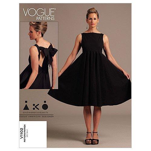 1950s Sewing Patterns | Dresses, Skirts, Tops, Mens Vogue Patterns V1102 Misses Dress Size AA (6-8-10-12)  AT vintagedancer.com
