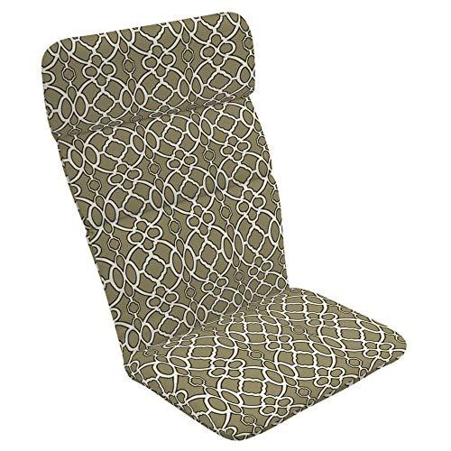 Sandstone Sunbrella Dining - Arden Selections 20 x 17 Sandstone Sinclair Trellis Outdoor Adirondack Chair Cushion