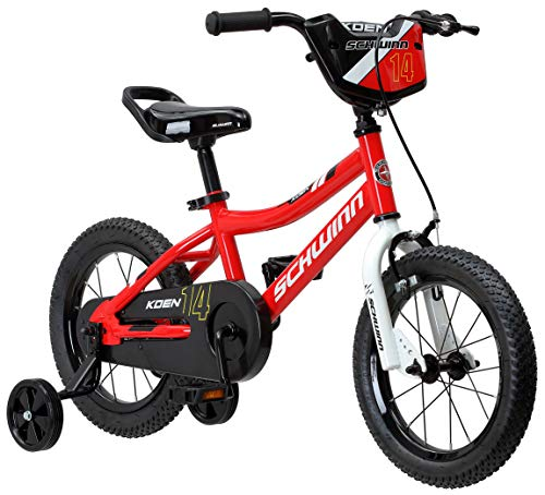 Schwinn Koen Boy's Bike, Featuring SmartStart Frame to Fit Your Child's Proportions, 14inches Wheels, Red (16 Inch Bike For 4 Year Old)