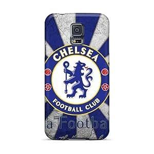 Samsung Galaxy S5 YmB7493JnWJ Provide Private Custom Attractive Chelsea Fc Logo Image Protective Hard Phone Cover -IanJoeyPatricia