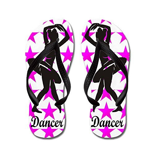 CafePress 1 Dancer - Flip Flops, Funny Thong Sandals, Beach Sandals Black