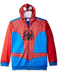 Men's Spiderman Character Zip Front Hoodie