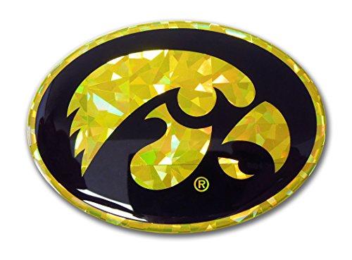 Elektroplate Iowa Hawkeyes Color NCAA Reflective 3D Decal Domed Sticker Emblem