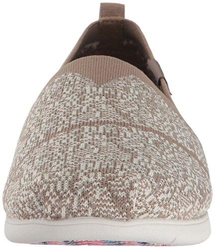 Skechers BOBS from Women's Plush Lite-Tailor-Made Flat Taupe BMoDhckva