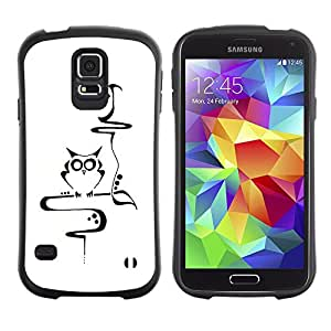 Suave TPU Caso Carcasa de Caucho Funda para Samsung Galaxy S5 SM-G900 / Teacher Smart Minimalist School / STRONG