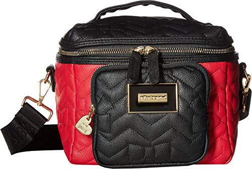 Betsey Johnson Women's Chevron Bow Quilt Lunch Tote Black/Red One ()