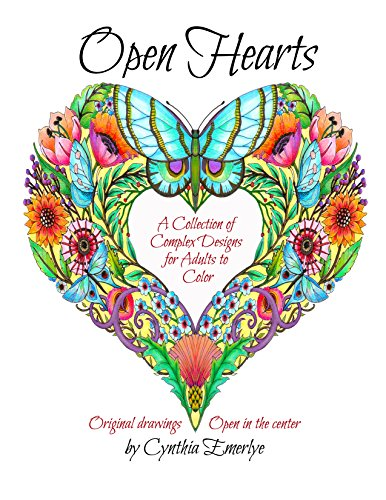 Open Hearts: a collection of complex designs for adults to color