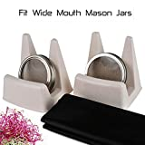 #9: Sprouting Kit - 2 In 1 Stand and Stainless Steel Lid For Wide Mouth Ball or Kerr Mason Jars (2 Set)CASAFE+