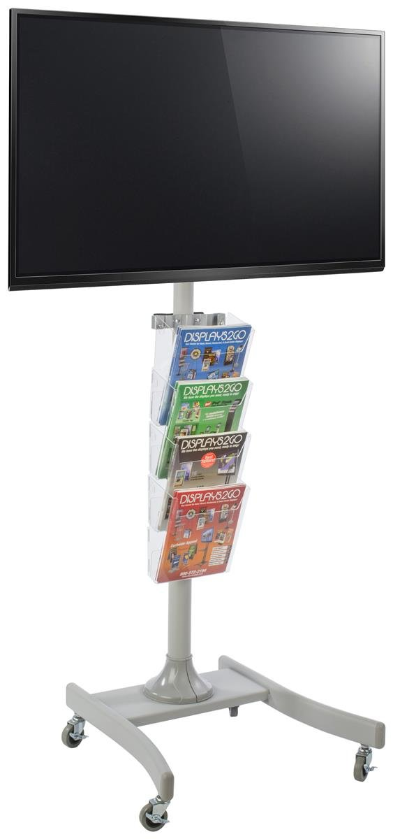 Amazon Com Displays2go Trade Show Tv Stand For 32 To 47 Rolling