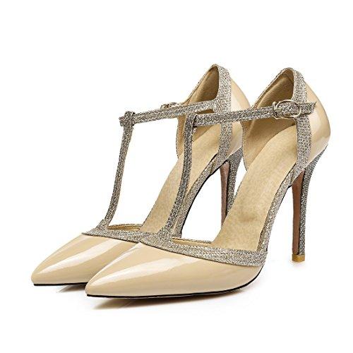 sandali fibbie sexy i sandali colore sandali sandali ha i sandali alto signore 42 hollow di tacco nuda nqBvWFxP