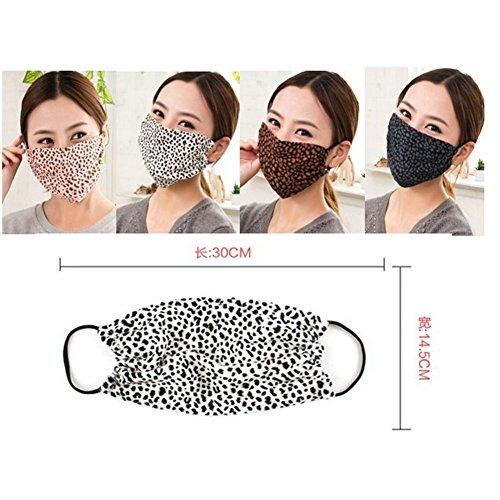 Ayygift 10pcs Spring Fashion Leopard Flower Pattern Face Mouth Mask Earloop Reusable - Filters Dust, Pollen & Flu Germs (Random Color)