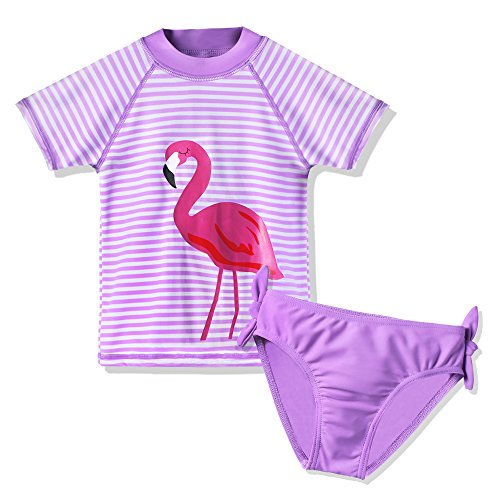 HUAANIUE Girls 2-12Y CocoTree with Heart Swimming suit 50+UV Sun Protection Swimsuit Costume