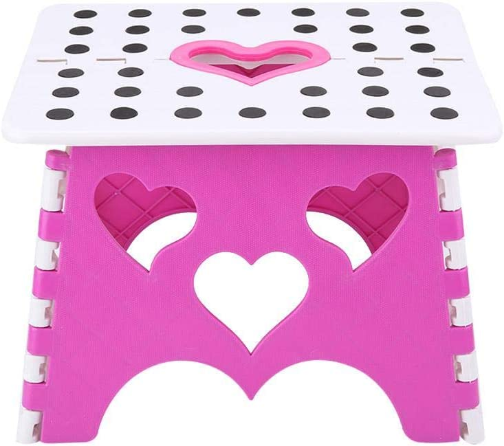 Yosoo123 Step Stool Premium Heavy Duty Foldable Folding Stool for Kids Adults Kitchen Garden Step Stool with Handle(D)