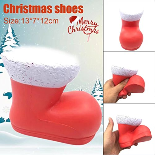 Sunfei 13cm Christmas Shoes Cream Scented Squishy Slow Rising Squeeze Toys Phone ()