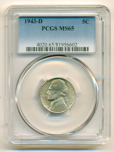 1943 D Jefferson Silver Nickel MS65 PCGS