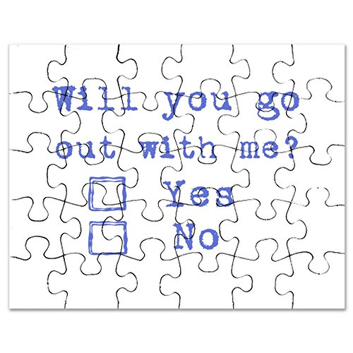 Out Jigsaw Puzzle 100 Pc (CafePress - Will You Go Out With Me? - Jigsaw Puzzle, 30 pcs.)