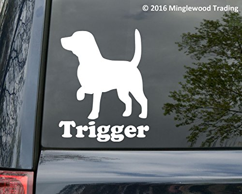 Minglewood Trading Beagle Dog vinyl decal sticker with Custom Personalized Name 6