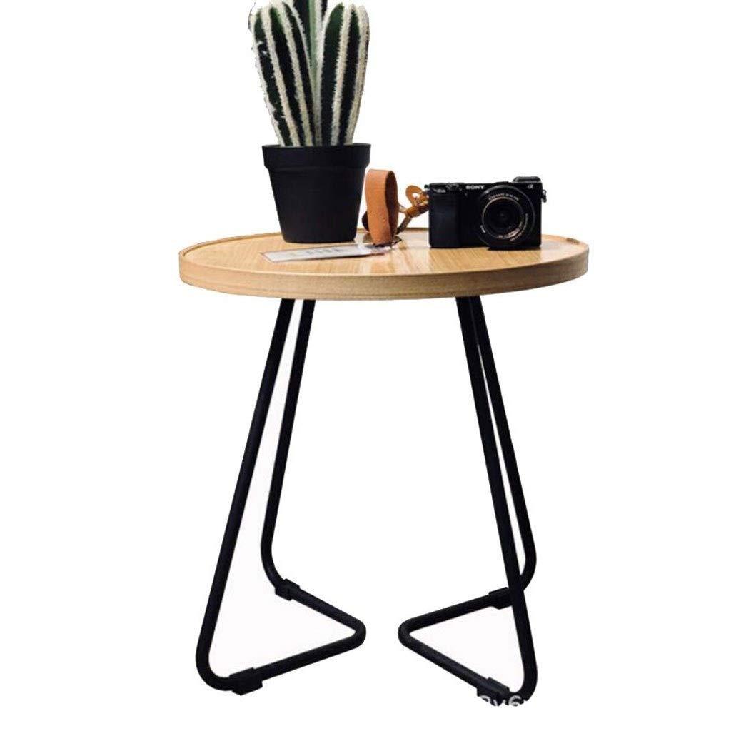 minoristas en línea SCDCTG Mesa Lateral blancoa Moderna para Dormitorio Sala Sala Sala de Estar con 3 Patas de bambú Natural  tienda hace compras y ventas