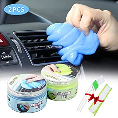 2 PCS Magic Gel for Car Interior Cleaner Detailing Tools Keyboard Cleaner Detail Removal Cleaning Putty Universal Dust Cleaner for Auto Laptop Home: Automotive