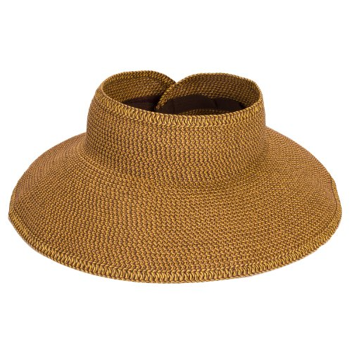 San Diego Hat Company Women's UBV002 Sun Hat Visor Multi Honey One Size