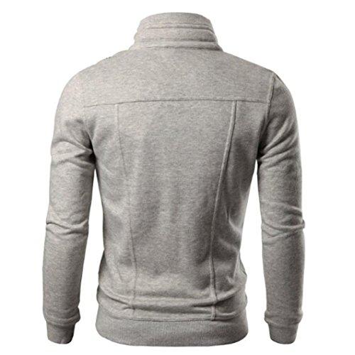Giacca Uomo Beikoard asia Slim Risvolto Design Con Size Gray A Da Bavero Maglie XRtXy1cw6q