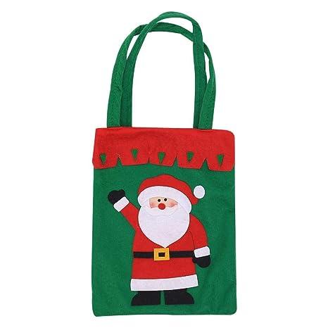 wonderday Bolsos de Dulces de Navidad, Bolsas Tejidas engrosadas Bolso de Dulces navideños Bolsa de Dulces de Santa Claus para la decoración de ...