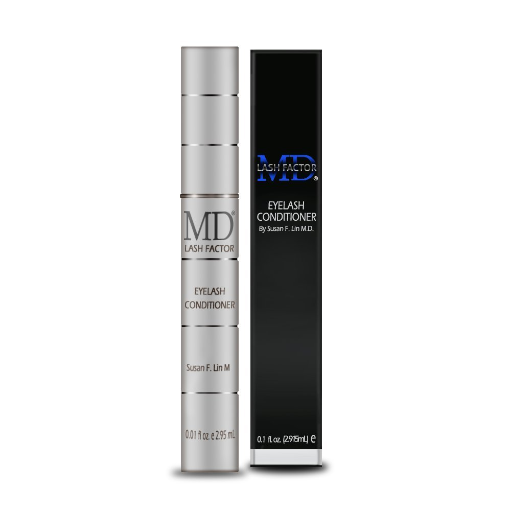 MD Lash Factor Eyelash Growth Serum| Enhances Your Natural Lashes For A Fuller, Longer & Denser Look | Eye Lash Enhancer for Women | 0.1 Fl Oz - 3 Month Supply