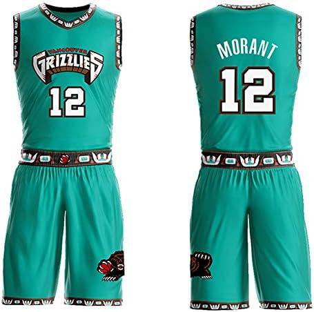メンズバスケットボールジャージースーツJa Morant Memphis Grizzlies No.12選手コンペティションジャージー、ファンジャージー