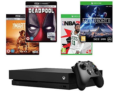 Xbox One X 1TB Console + Star Wars Battlefront 2 + NBA 2K18 + Deadpool (4K) + The Martian (4K)