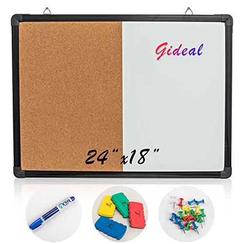 Gideal Dry Erase/Cork Combo Board 24