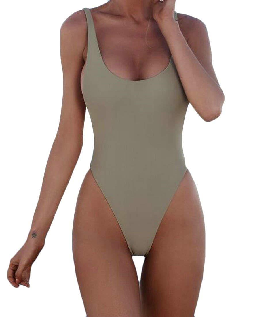 XINSU Costume da Bagno da Bagno da Bagno Intero Sexy Monokini a Colorei Monokini Bikini da Donna (Colore   1, Dimensione   Medium)