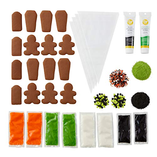Wilton Zombie Cookies Decorating Kit, 6-Piece - Halloween Cookie Decorating Kit with Chocolate Zombie and Tombstone Cookies