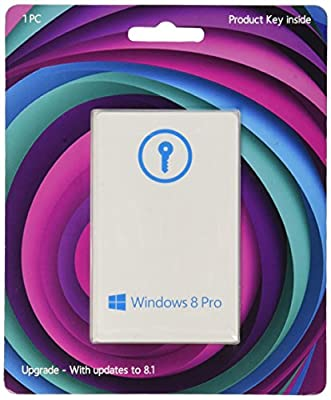 Windows 8 Pro Upgrade 32/64 Bit (Product Key Card) - w / Free Updates to 8.1 Pro - And Free Updates to Windows 10 (when released)
