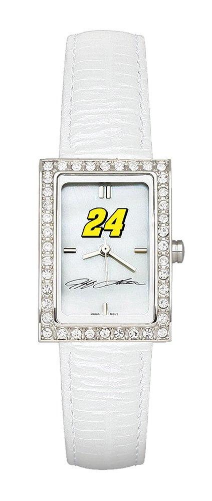 売れ筋商品 Jeff Gordon Gordon Jeff Ladies Allure Allure Watchホワイトレザーストラップ B002V3A748, 英語伝:545f924f --- arianechie.dominiotemporario.com
