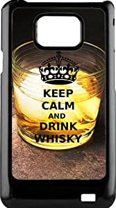 funda rigida for Samsung Galaxy S2 keep calm and drink whiskey