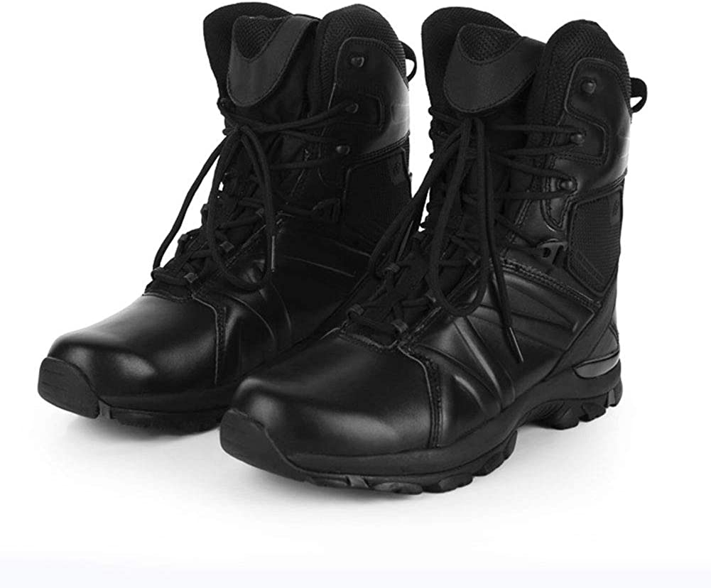 Military Tactical Boots Jungle Combat Boots Lace Up Breathable Desert Boots for Hiking Walking Black