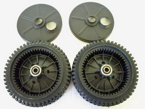 Set of 2, Original FSP Lawn Mower Wheel Kit 193144, Includes 2 Dust Covers # 189403. Has Metal Bushings, Not (Cover Bushing)
