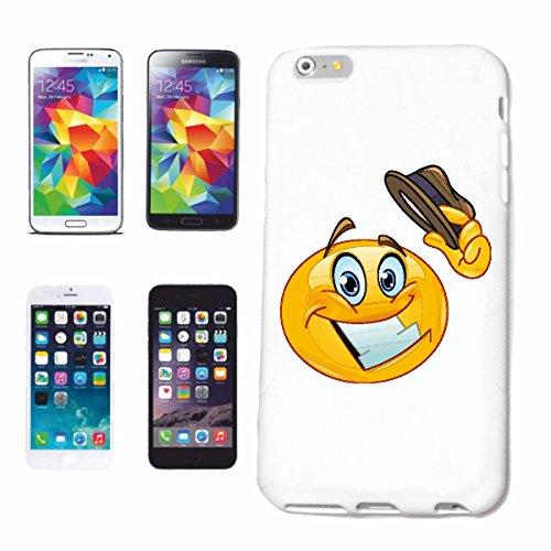 """cas de téléphone iPhone 7S """"MERRY SMILEY TIRAGE SON CHAPEAU """"smile EMOTICON APP de SMILEYS SMILIES ANDROID IPHONE EMOTICONS IOS"""" Hard Case Cover Téléphone Covers Smart Cover pour Apple iPhone en blanc"""