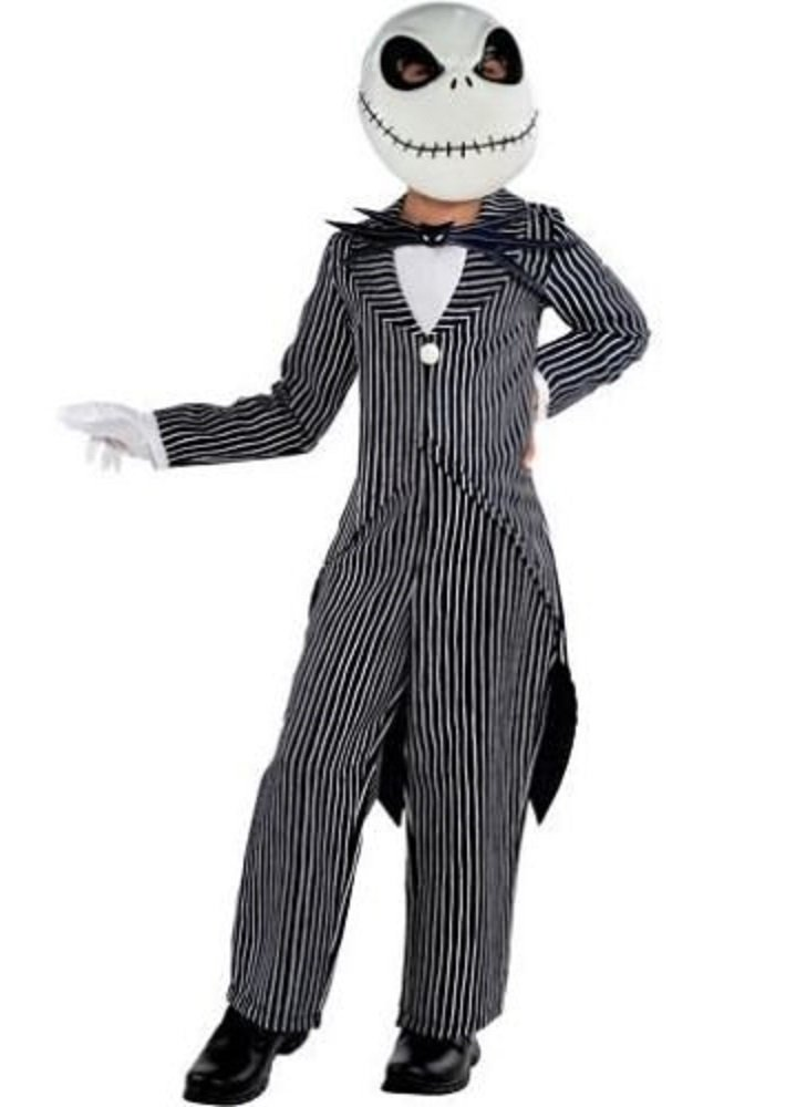 Party City The Nightmare Before Christmas Jack Skellington Pinstripe Halloween Costume for Boys, Med, with Accessories by Amscan
