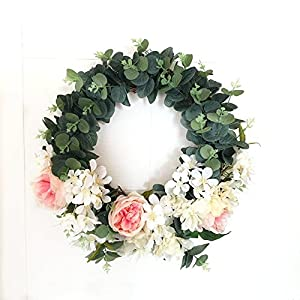 LI HUA CAT Simulation Artifical Rose Peony Sakura Combined Forest Department of Wreaths Real Touch Door Decor Wall Wedding Decoration 32