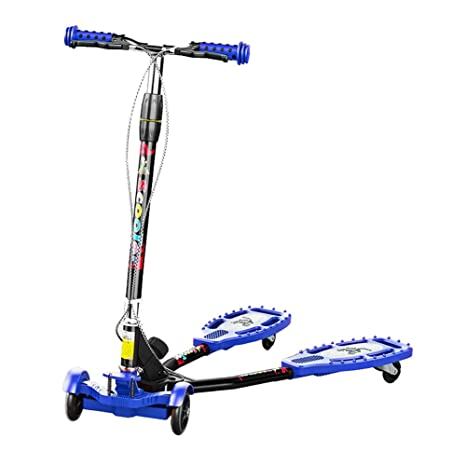 Patinetes clásicos Scooter Ajustable para niños pequeños, Plegado 4, Rueda Intermitente, Patada Scooetr