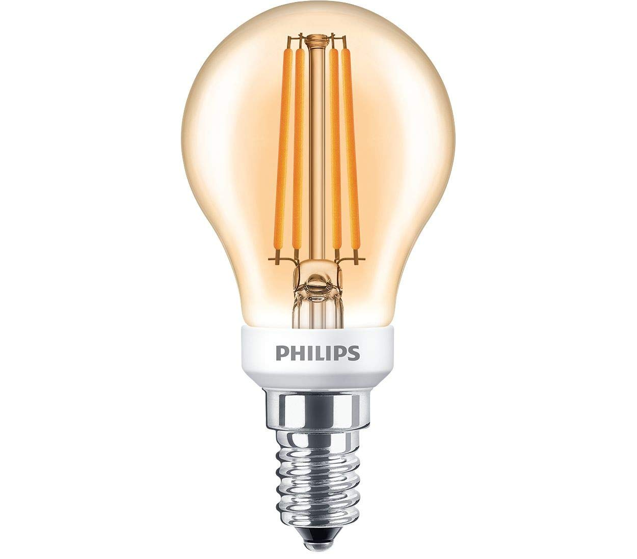 Philips Bombilla LED Gota filamento 5 W E14 827 2700 Kelvin A60 Oro transparente blanco cálido extra: Amazon.es: Electrónica