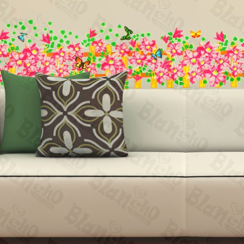Butterfly Echoes In Blossom - Wall Decals Stickers Appliques Home D¨¦cor (Echo Baby Bedding)