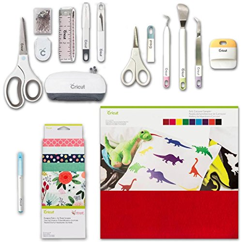 Cricut Maker Accessories Bundle - Fabric Sampler, Pen, Felt, Tools & Sewing Kit 4336980853