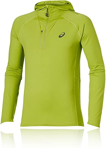 Salvaje Timor Oriental Pacífico  ASICS Fujitrail Half-Zip Running Hoodie - X Small Green: Amazon.co.uk:  Clothing