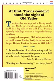 old yeller journal School library journal since its publication in 1956, old yeller has in the rugged landscape of early frontier texas, fourteen-year-old travis is faced.