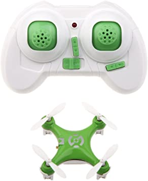Opinión sobre Cheerson® CX-10 Mini Drone Nano Cuadricópteros RTF - 4 Canales 6 Ejes Gyro 360 Grados 2.4G RC Minicóptero con Luz LED (Verde)