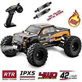 BEZGAR Hobbyist Grade 4x4 Waterproof RC Car, 1:12 Large Size Off Road...