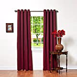 Cheap Best Home Fashion Basic Thermal Insulated Blackout Curtains – Antique Bronze Grommet Top – Burgundy – 52″ W x 96″ L – (1 Panel)