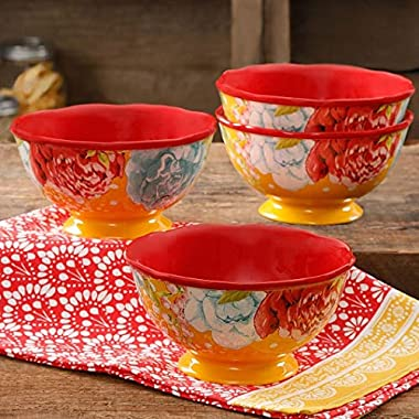 The Pioneer Woman Blossom Jubilee 6  Footed Bowl Set, Set of 4 (1)